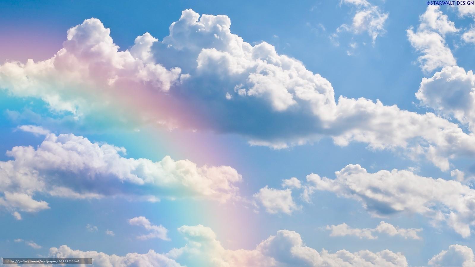 tlcharger fond d 39 ecran ciel nuages arc en ciel fonds d 39 ecran gratuits pour votre rsolution du. Black Bedroom Furniture Sets. Home Design Ideas