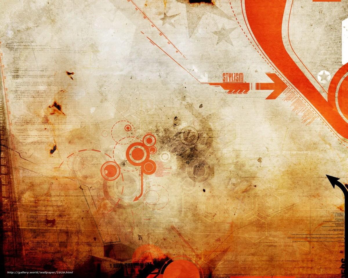 Скачать обои дизайн,  текстура,  оранжевый бесплатно для рабочего стола в разрешении 1280x1024 — картинка №1029