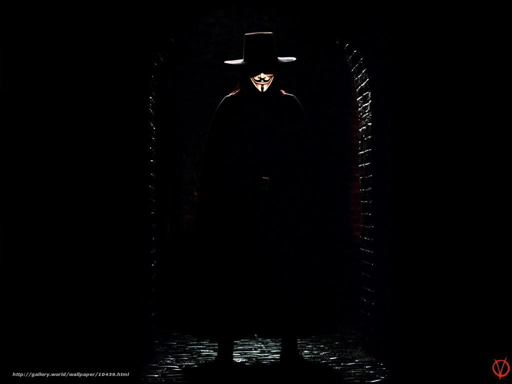 Download wallpaper В«VВ» Vendetta,  V for Vendetta,  film,  movies free desktop wallpaper in the resolution 1024x768 — picture №10439