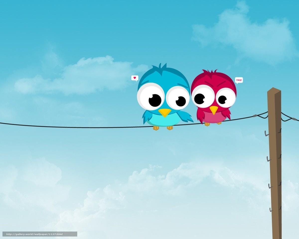 Download wallpaper wire,  Birds,  love free desktop wallpaper in the resolution 1280x1024 — picture №1137