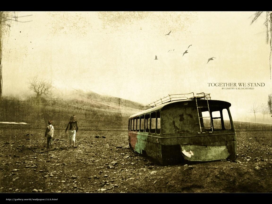 Скачать обои сила духа,  потертость,  старость,  ржавый автобус бесплатно для рабочего стола в разрешении 1152x864 — картинка №113