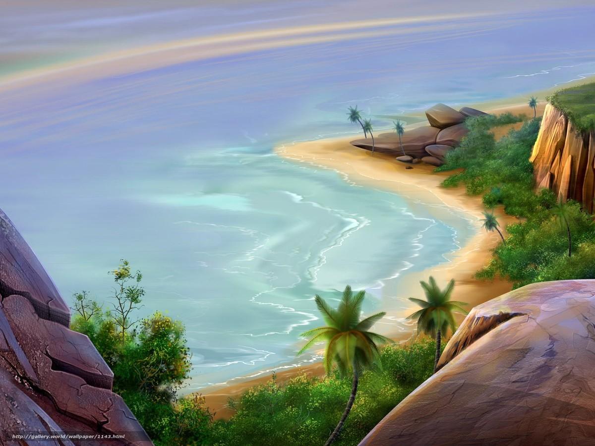 tlcharger fond d u0027ecran plage dessin mer fonds d u0027ecran gratuits
