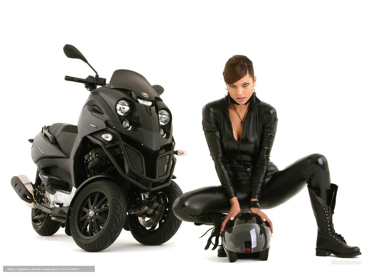 Download wallpaper aunt,  bike,  helmet,  leather free desktop wallpaper in the resolution 1600x1200 — picture №11616
