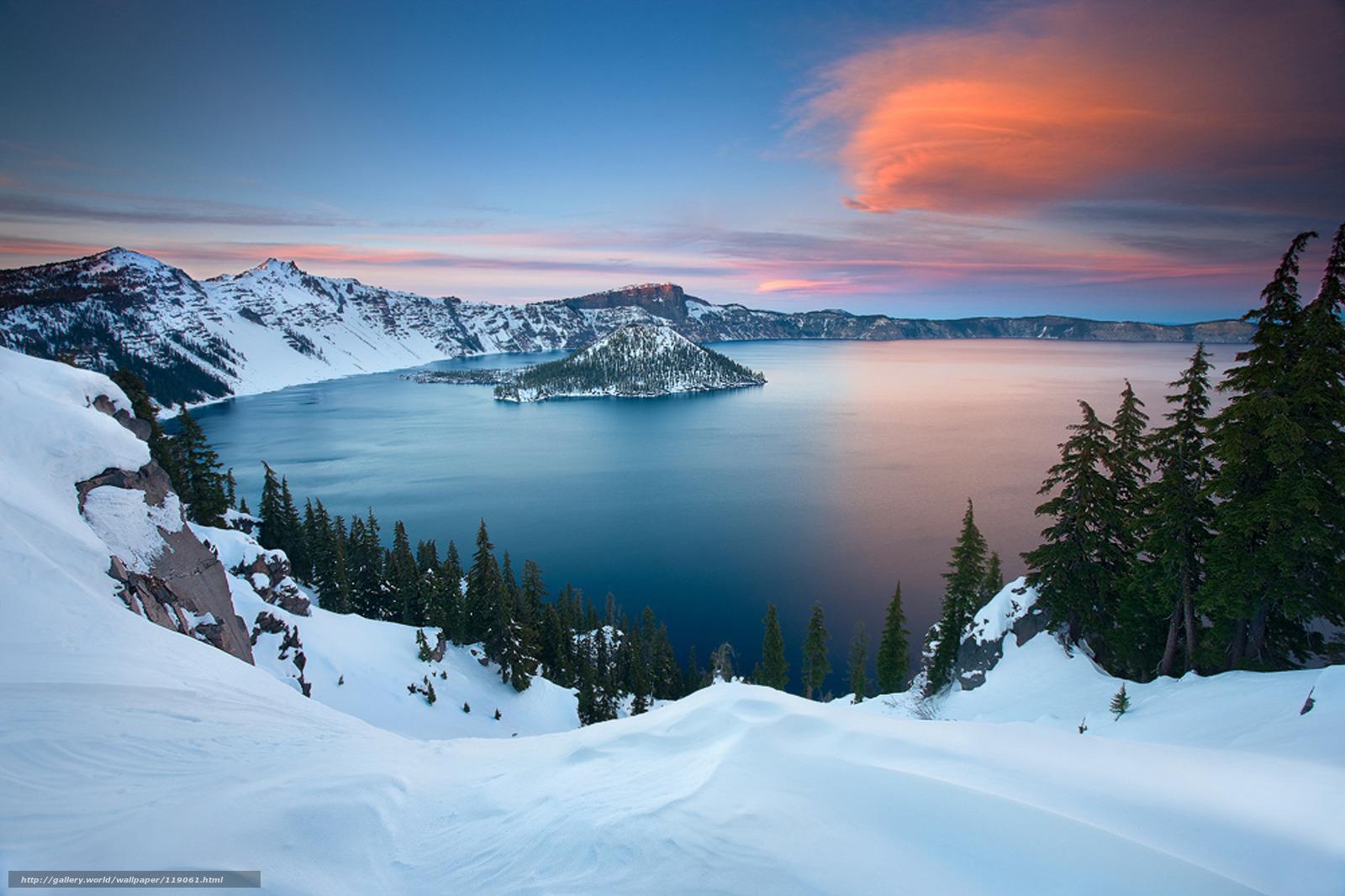 Tlcharger fond d 39 ecran hiver lac neige montagnes fonds for Foto fond ecran