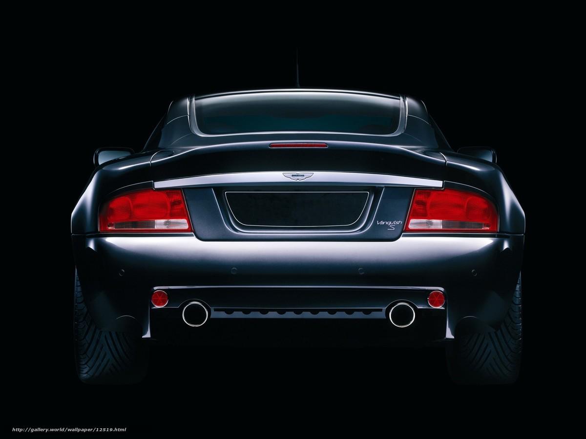 Download wallpaper Aston Martin,  rear,  black,  von free desktop wallpaper in the resolution 1600x1200 — picture №12519