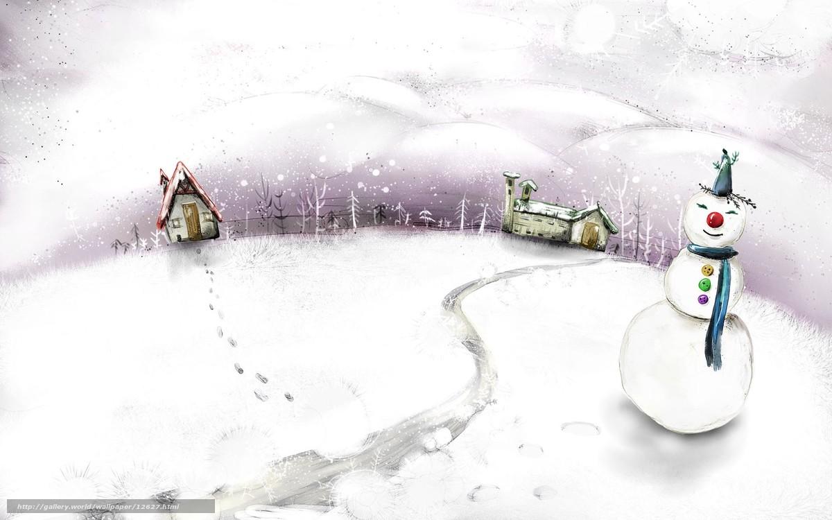 tlcharger fond d 39 ecran hiver bonhomme de neige dessin fonds d 39 ecran gratuits pour votre. Black Bedroom Furniture Sets. Home Design Ideas