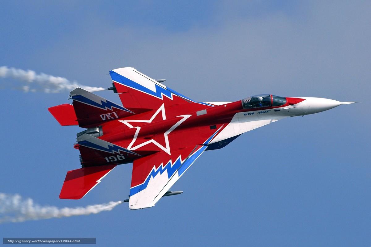 Скачать обои миг,  самолет,  красный,  звезда бесплатно для рабочего стола в разрешении 2835x1890 — картинка №12854