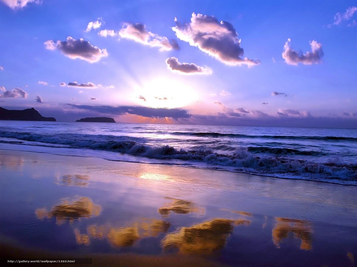 Скачать обои небо,  облака,  море бесплатно для рабочего стола в разрешении 1600x1200 — картинка №1303