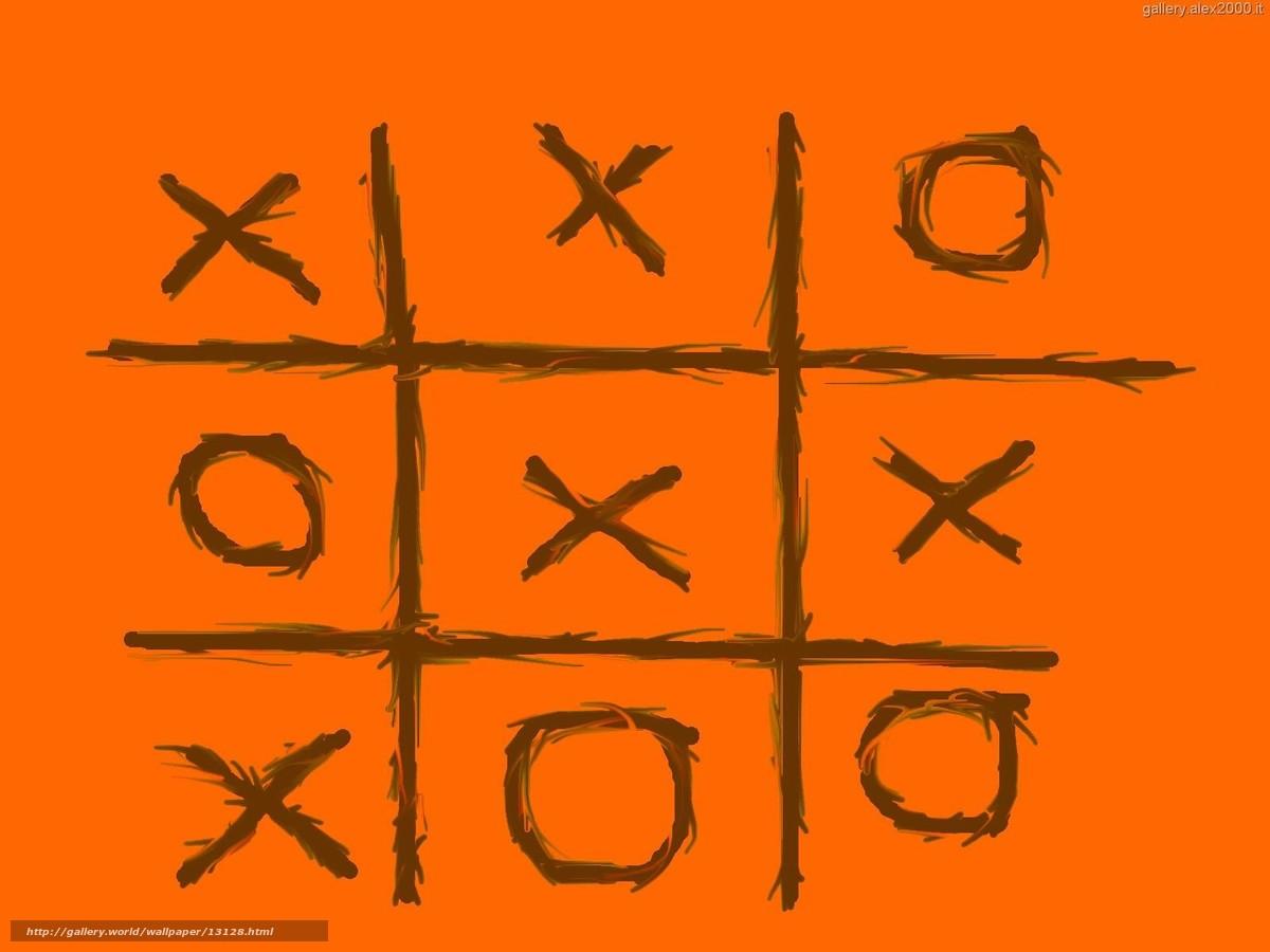 Скачать обои крестики нолики,  оранжевый бесплатно для рабочего стола в разрешении 1600x1200 — картинка №13128