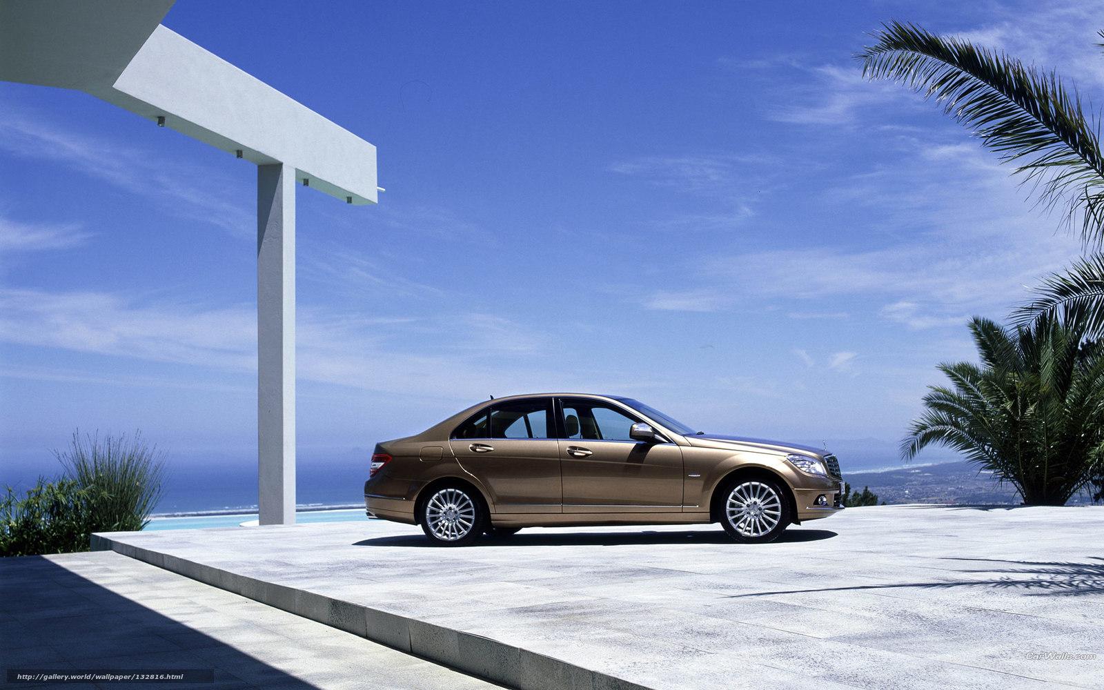 scaricare gli sfondi Mercedes-Benz,  Classe C,  Auto,  macchinario Sfondi gratis per la risoluzione del desktop 1920x1200 — immagine №132816