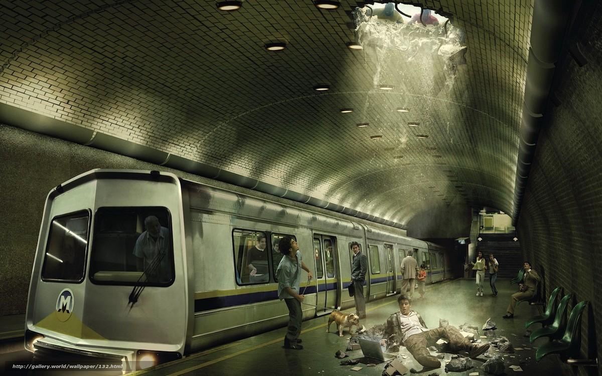 scaricare gli sfondi metro,  spavento,  fantasia Sfondi gratis per la risoluzione del desktop 1680x1050 — immagine №132