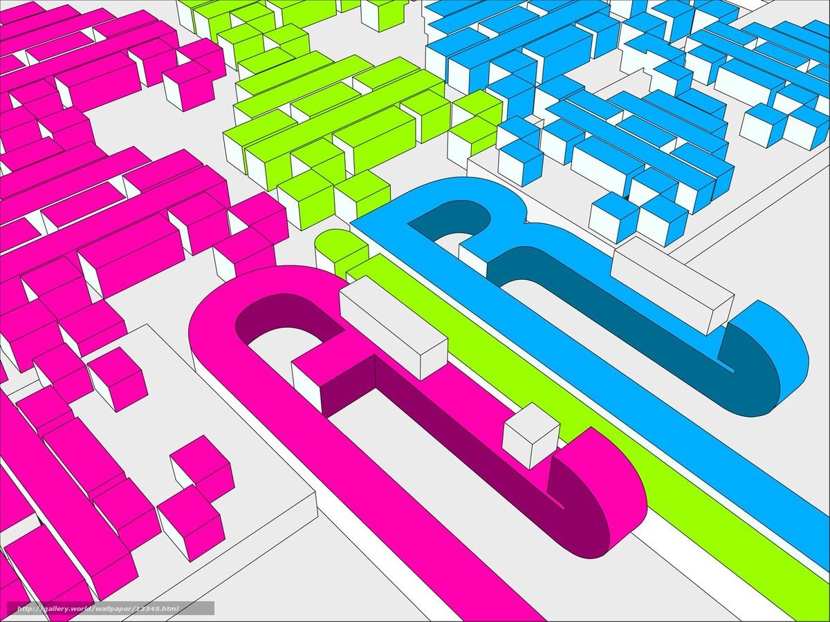 Скачать обои цвет,  кубики бесплатно для рабочего стола в разрешении 1600x1200 — картинка №13345