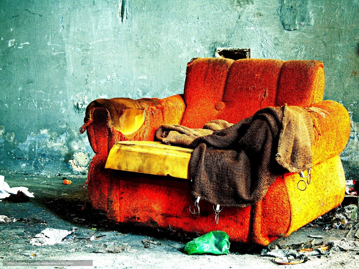 Download wallpaper Sofa,  room,  fire,  loneliness free desktop wallpaper in the resolution 1600x1200 — picture №136