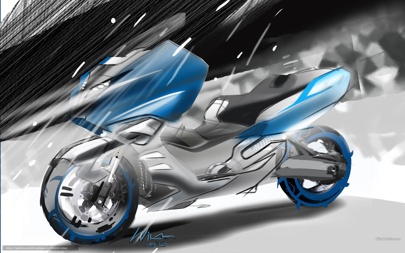 Download wallpaper BMW, Scooter, Concept C, Concept C 2010 free ...
