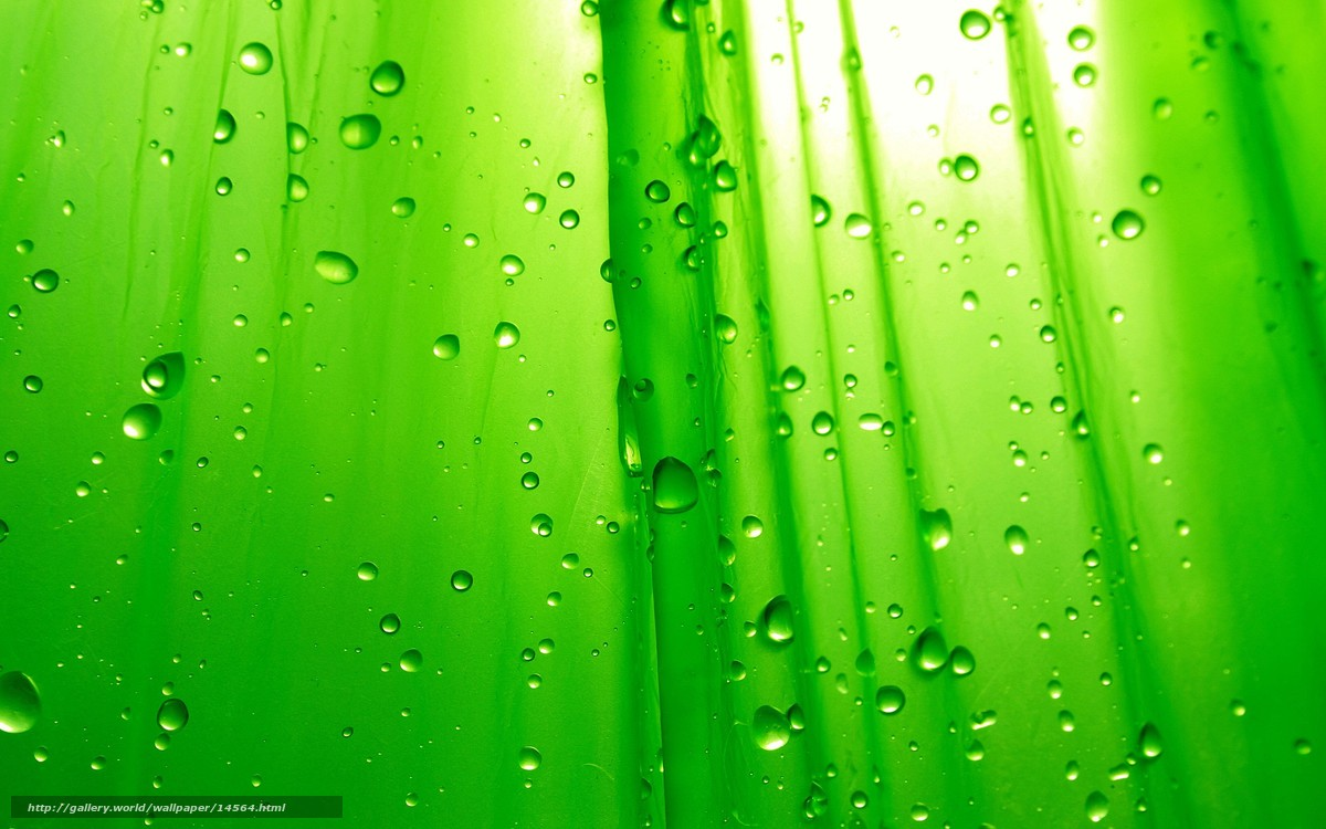 Download wallpaper Green,  drops,  von free desktop wallpaper in the resolution 2560x1600 — picture №14564