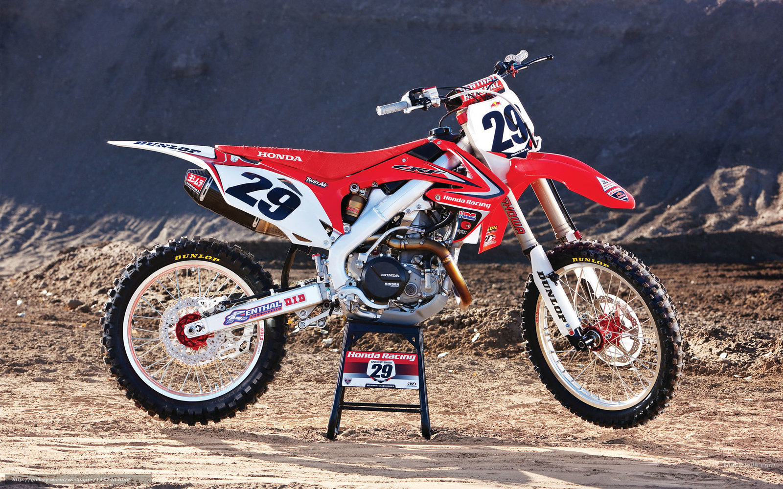 Download wallpaper Honda, Motocross, Red Bull Racing, Red ...