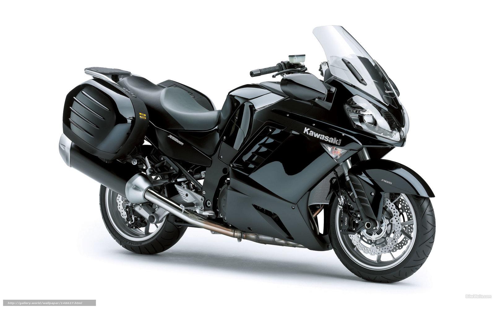 scaricare gli sfondi Kawasaki,  Tourer,  1400 GTR,  1400 GTR 2009 Sfondi gratis per la risoluzione del desktop 1920x1200 — immagine №148627