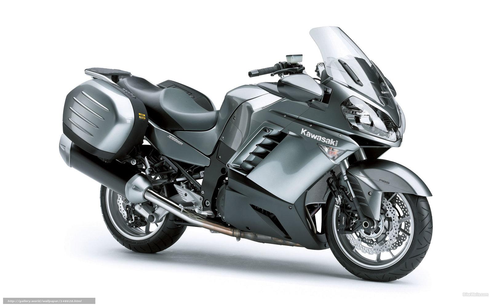 scaricare gli sfondi Kawasaki,  Tourer,  1400 GTR,  1400 GTR 2009 Sfondi gratis per la risoluzione del desktop 1920x1200 — immagine №148628