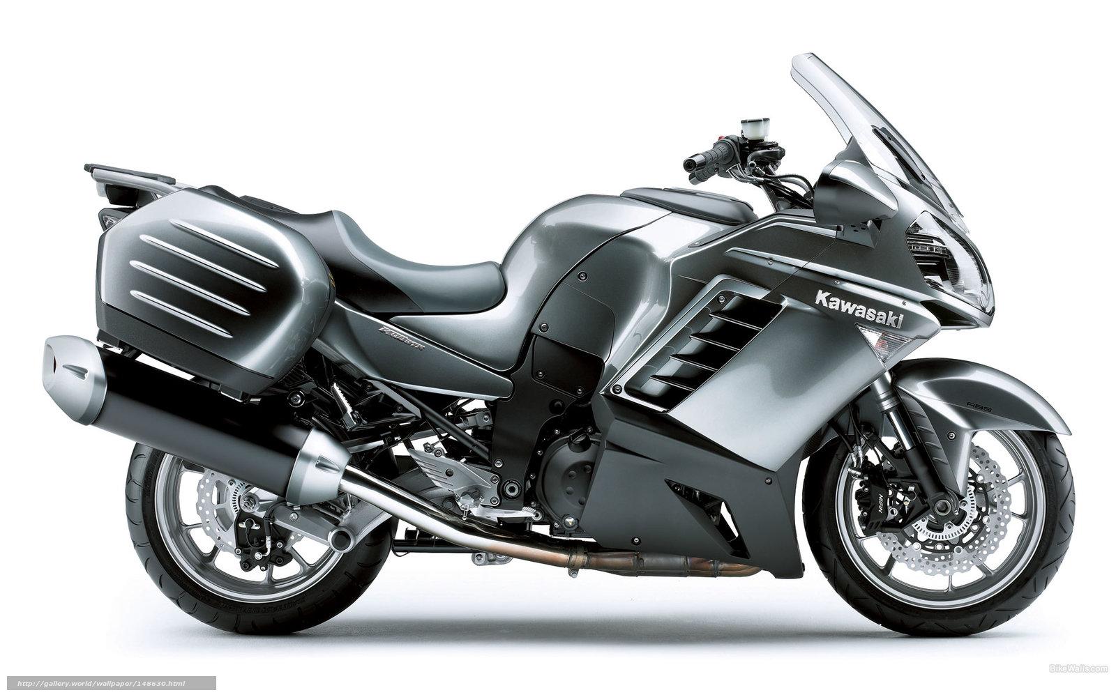 scaricare gli sfondi Kawasaki,  Tourer,  1400 GTR,  1400 GTR 2009 Sfondi gratis per la risoluzione del desktop 1920x1200 — immagine №148630