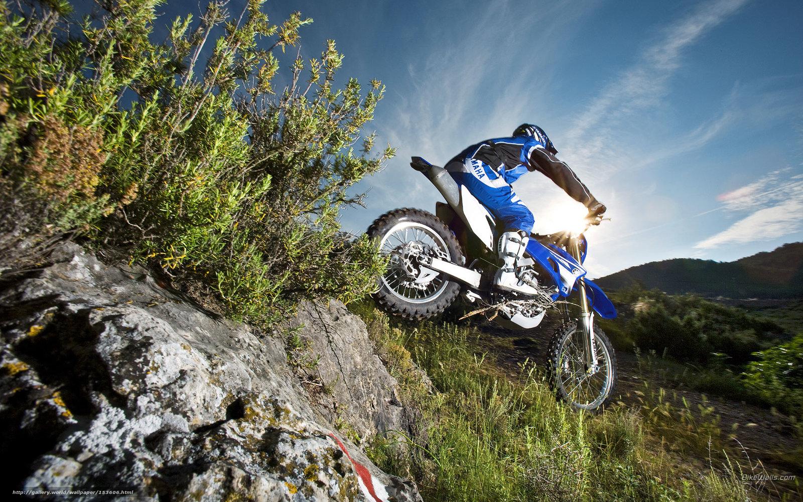 Download Wallpaper Yamaha, Off-Road, WR250F, WR250F 2008