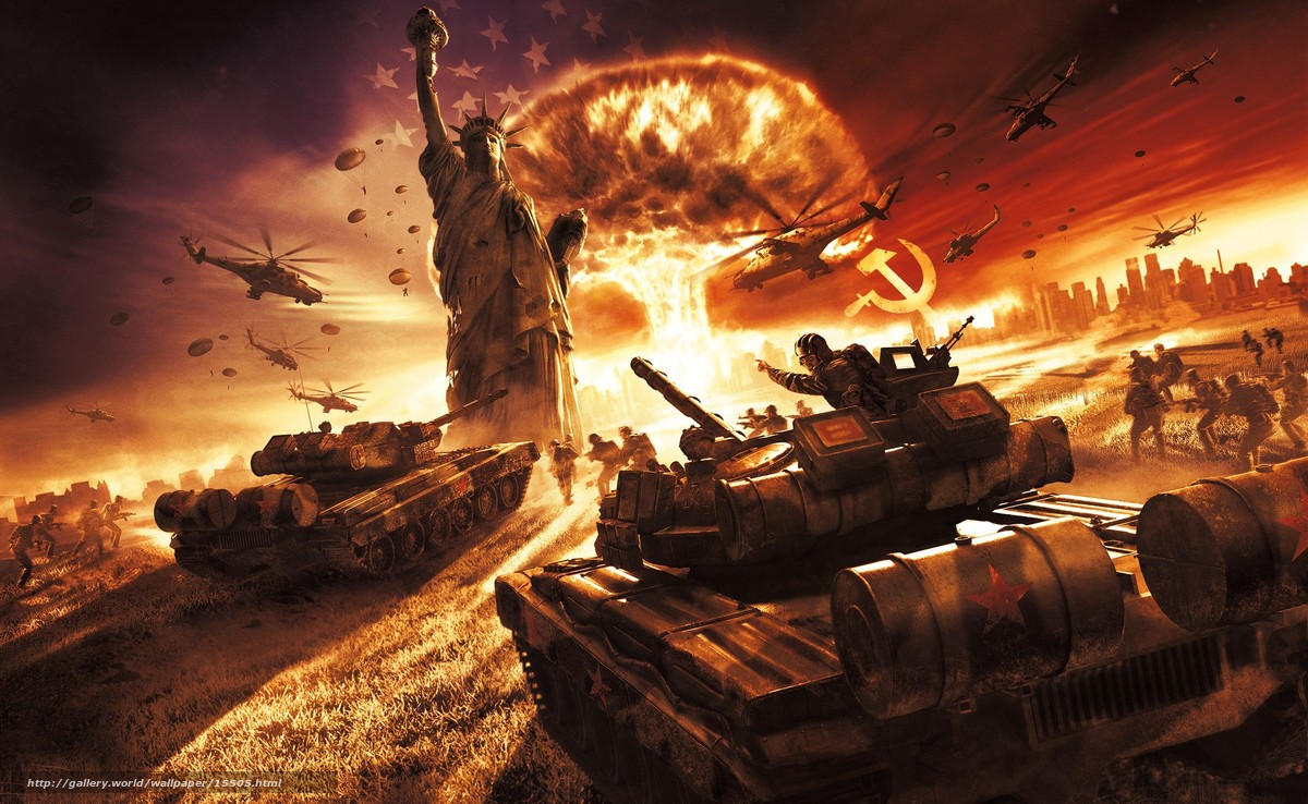 Download wallpaper USSR,  War,  статуя свободы free desktop wallpaper in the resolution 2560x1575 — picture №15505