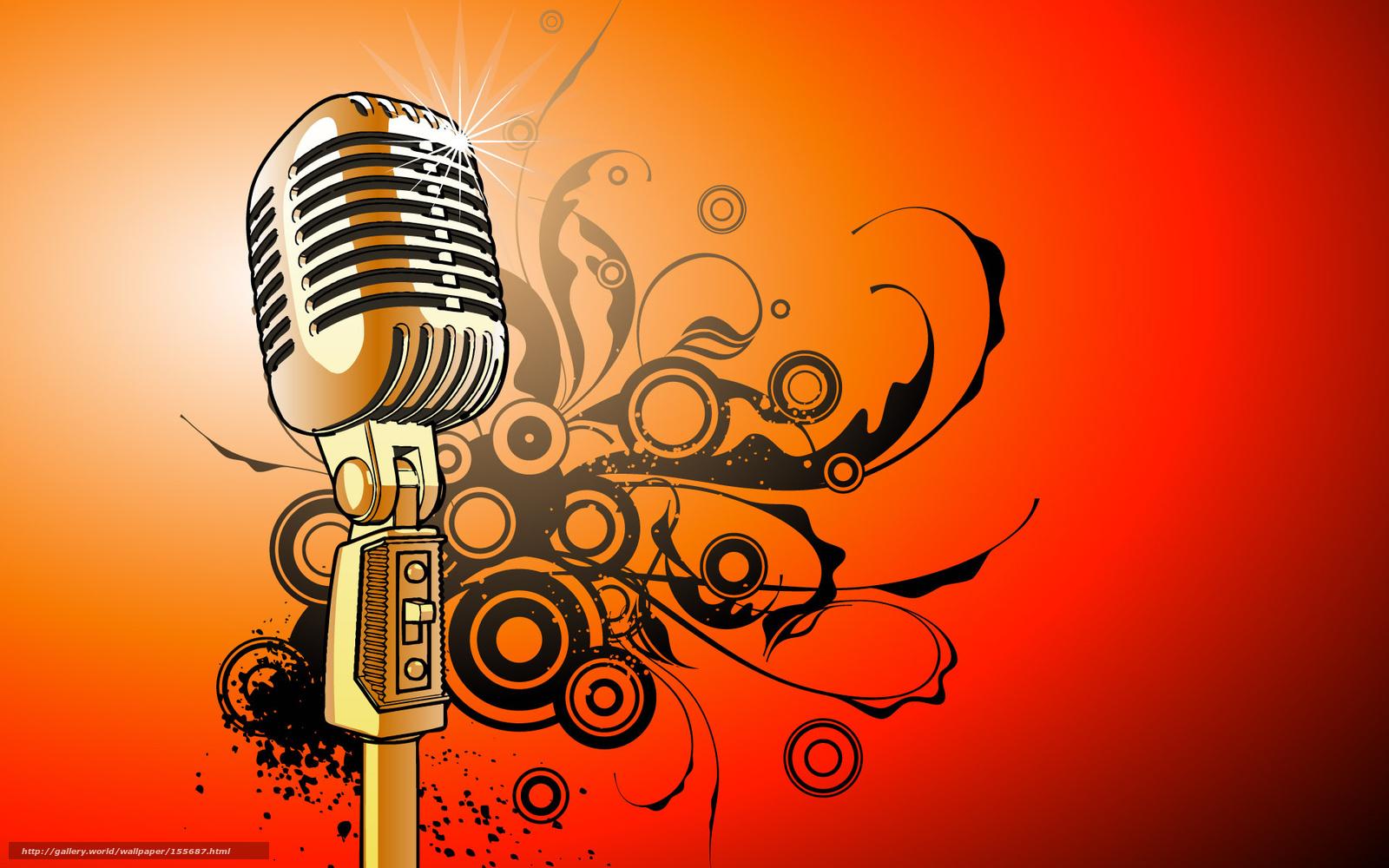 Обои микрофон, стиль, музыка. Музыка foto 16