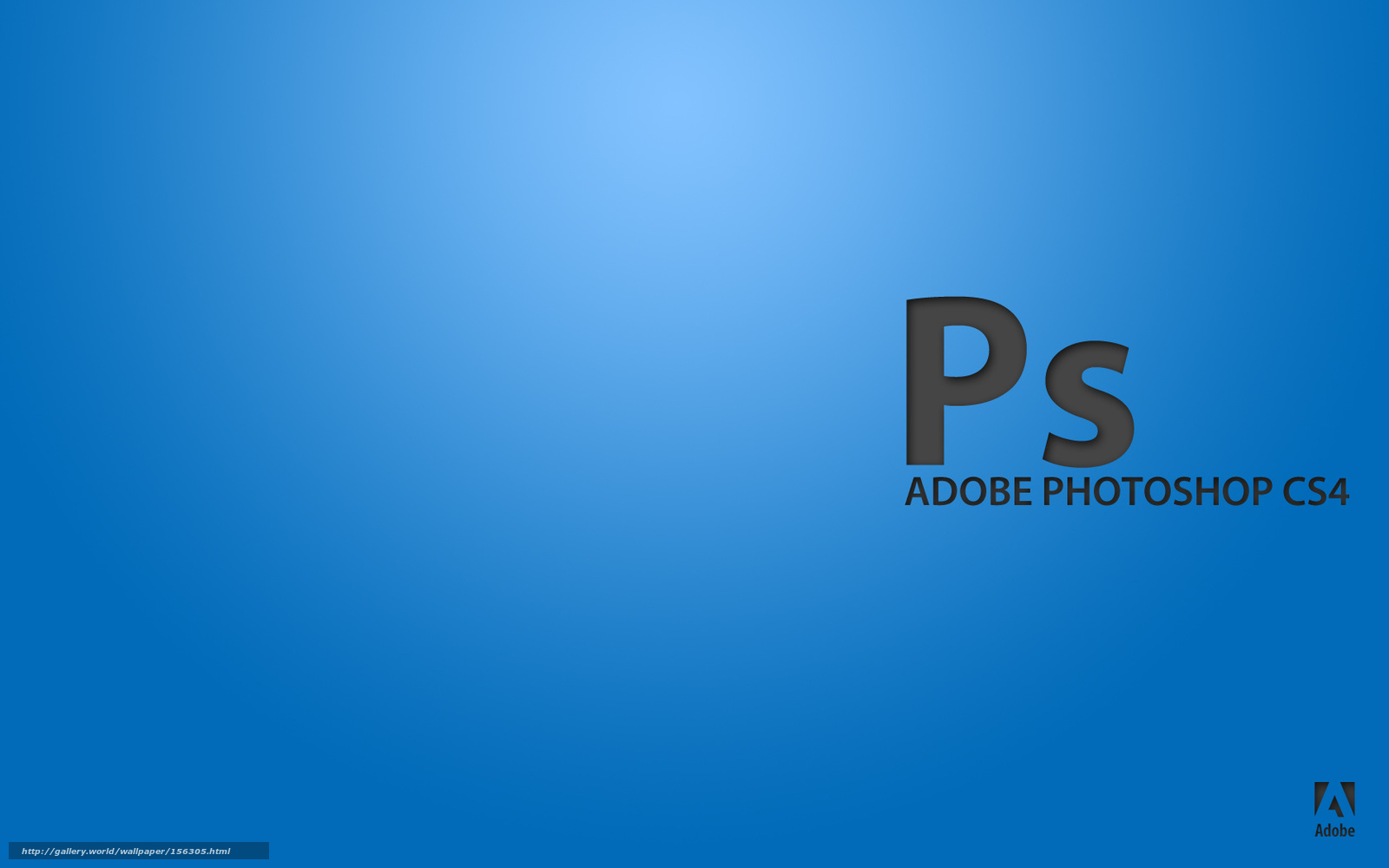 scaricare gli sfondi adobe, blu, Photoshop, programma Sfondi