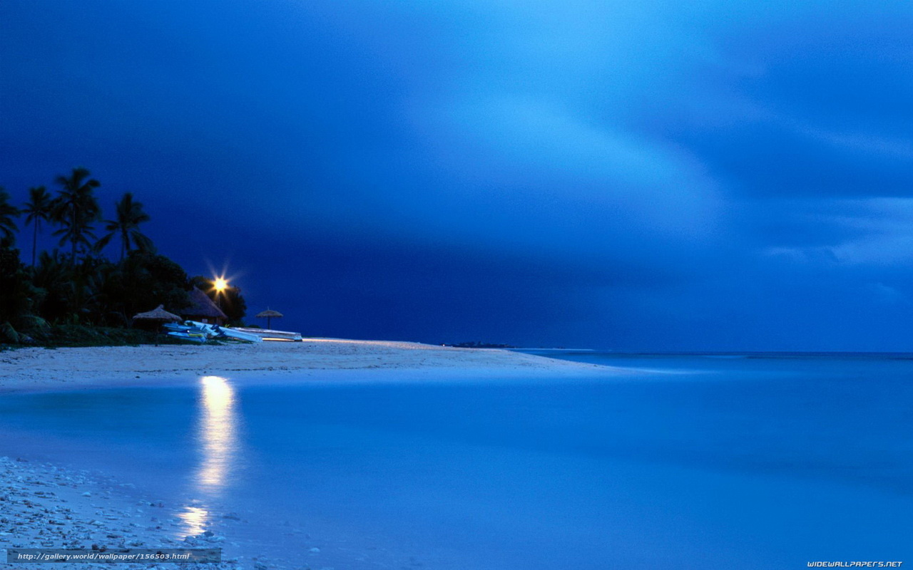 Scaricare Gli Sfondi Spiaggia Mare Notte Sfondi Gratis Per La