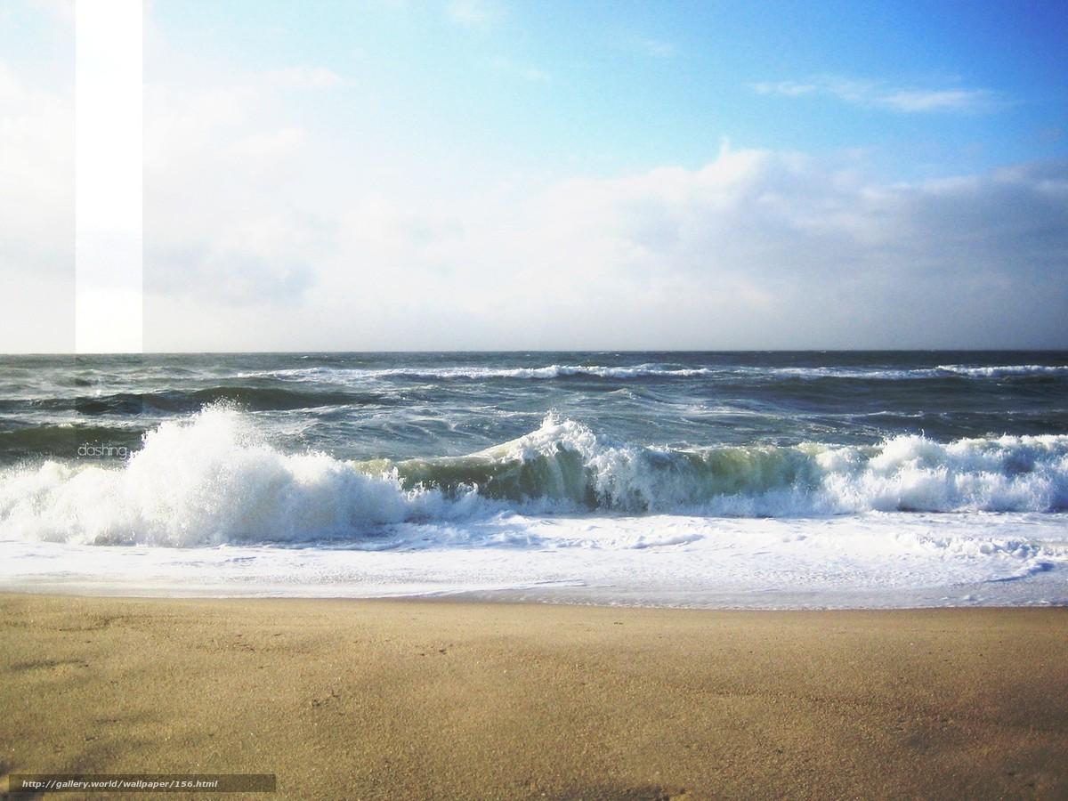 壁紙をダウンロード 風景,  海,  波浪,  スプレー デスクトップの解像度のための無料壁紙 1600x1200 — 絵 №156