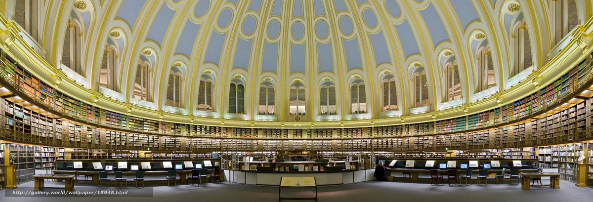 Download wallpaper Library,  британия,  музей,  Books free desktop wallpaper in the resolution 4996x1701 — picture №15948