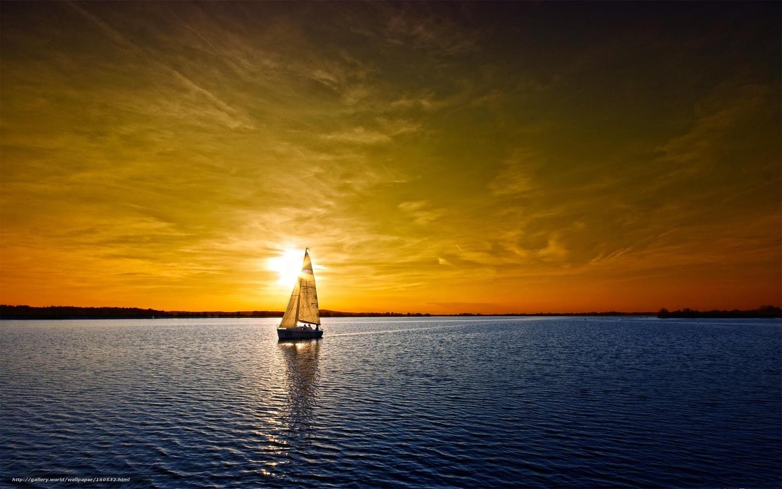 Segeln sonnenuntergang  Download Hintergrund Wasser, Sonnenuntergang, Himmel, segeln Freie ...