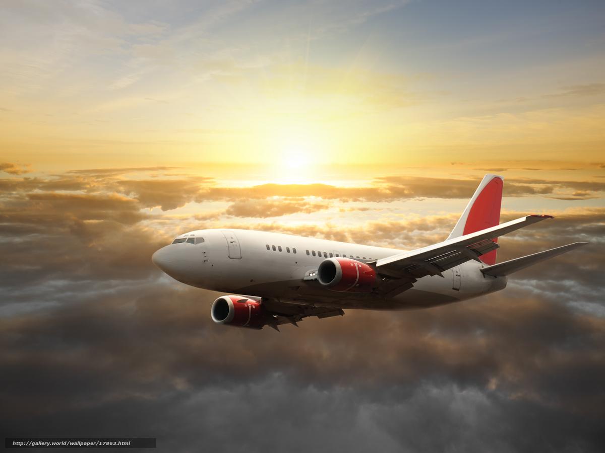 Скачать обои самолет,  небо,  солнце бесплатно для рабочего стола в разрешении 6048x4536 — картинка №17863