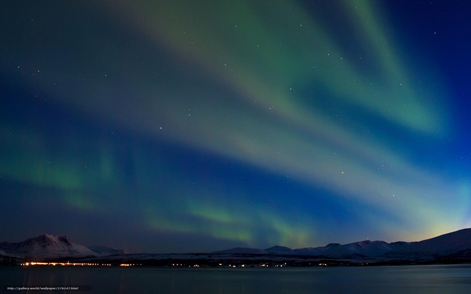 Scaricare gli sfondi inverno montagne aurora boreale for Sfondi aurora boreale
