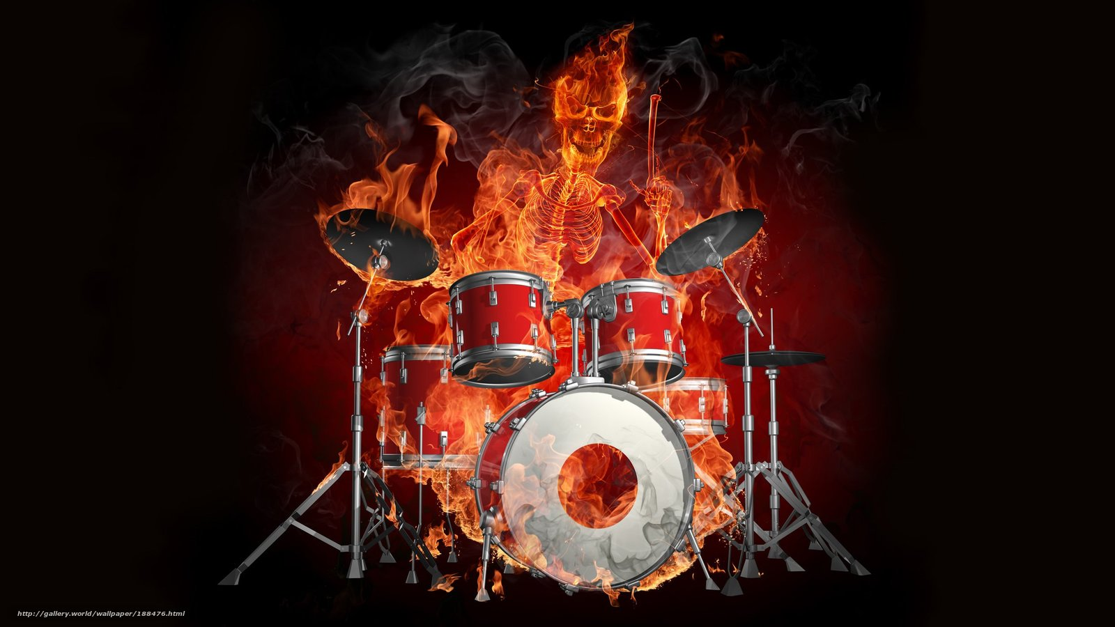 Download Wallpaper Drums Fire Demon Skull Free Desktop In The Resolution 2560x1440 Picture No188476