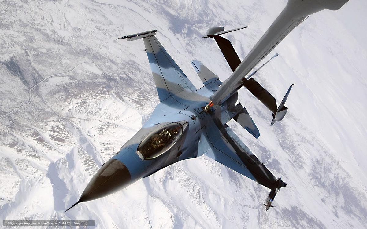 Скачать обои самолет,  заправка,  высота,  горы бесплатно для рабочего стола в разрешении 1920x1200 — картинка №18856