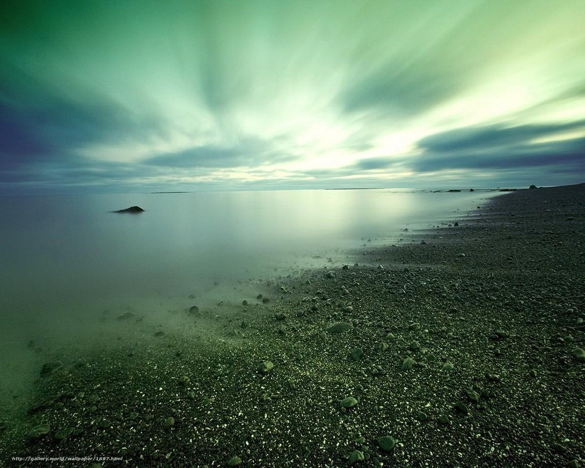 Скачать обои берег,  камни,  вода,  облака бесплатно для рабочего стола в разрешении 1280x1024 — картинка №1897