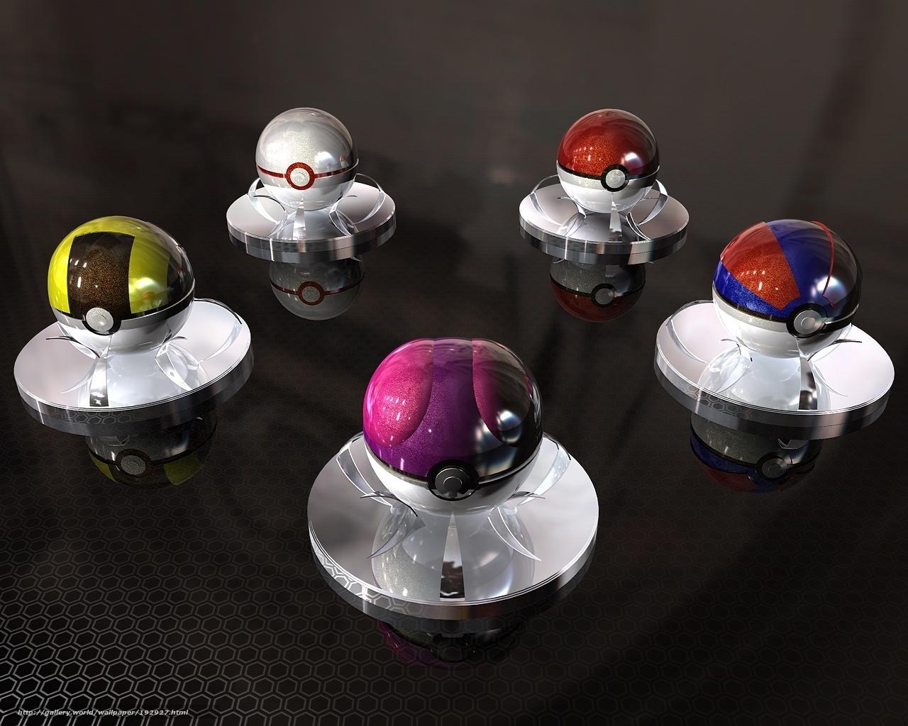 Скачать обои Pokemon,   Pokeball бесплатно для рабочего стола в разрешении 1280x1024 — картинка №192927