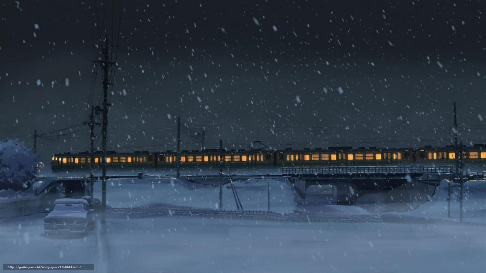 Scaricare gli sfondi treno notte inverno neve sfondi for Sfondi gratis desktop inverno