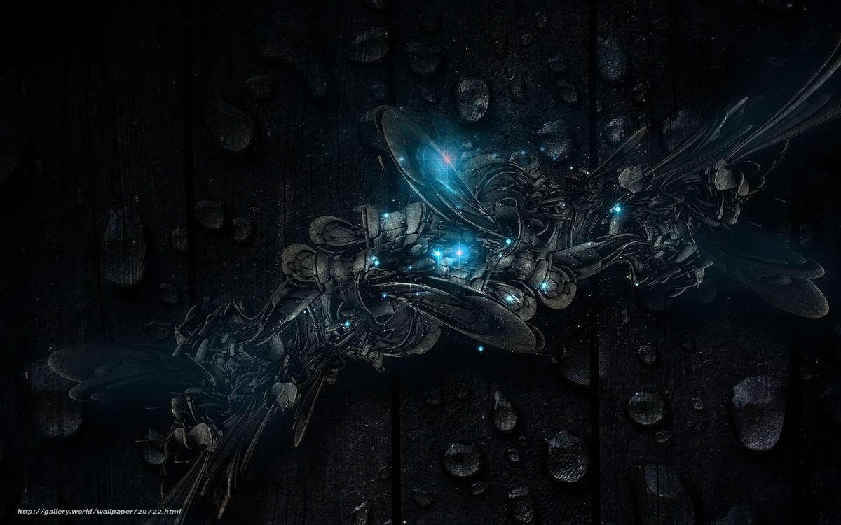 壁紙をダウンロード 黒色背景 滴 テクスチャー 青 デスクトップの解像度のための無料壁紙 19x10 絵 722