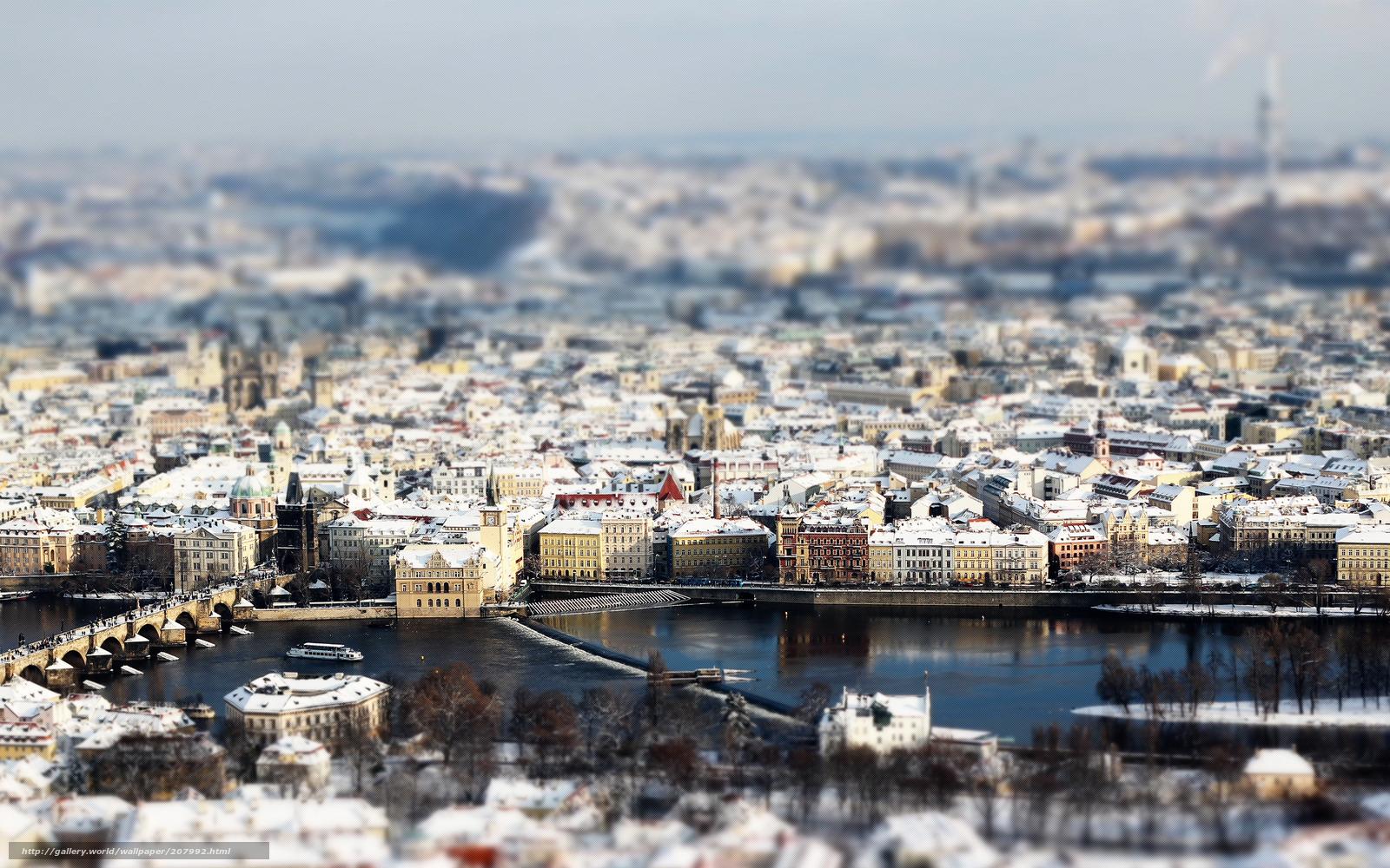 Tlcharger Fond d'ecran Ville,  Prague,  hiver,  neige Fonds d'ecran gratuits pour votre rsolution du bureau 2560x1600 — image №207992