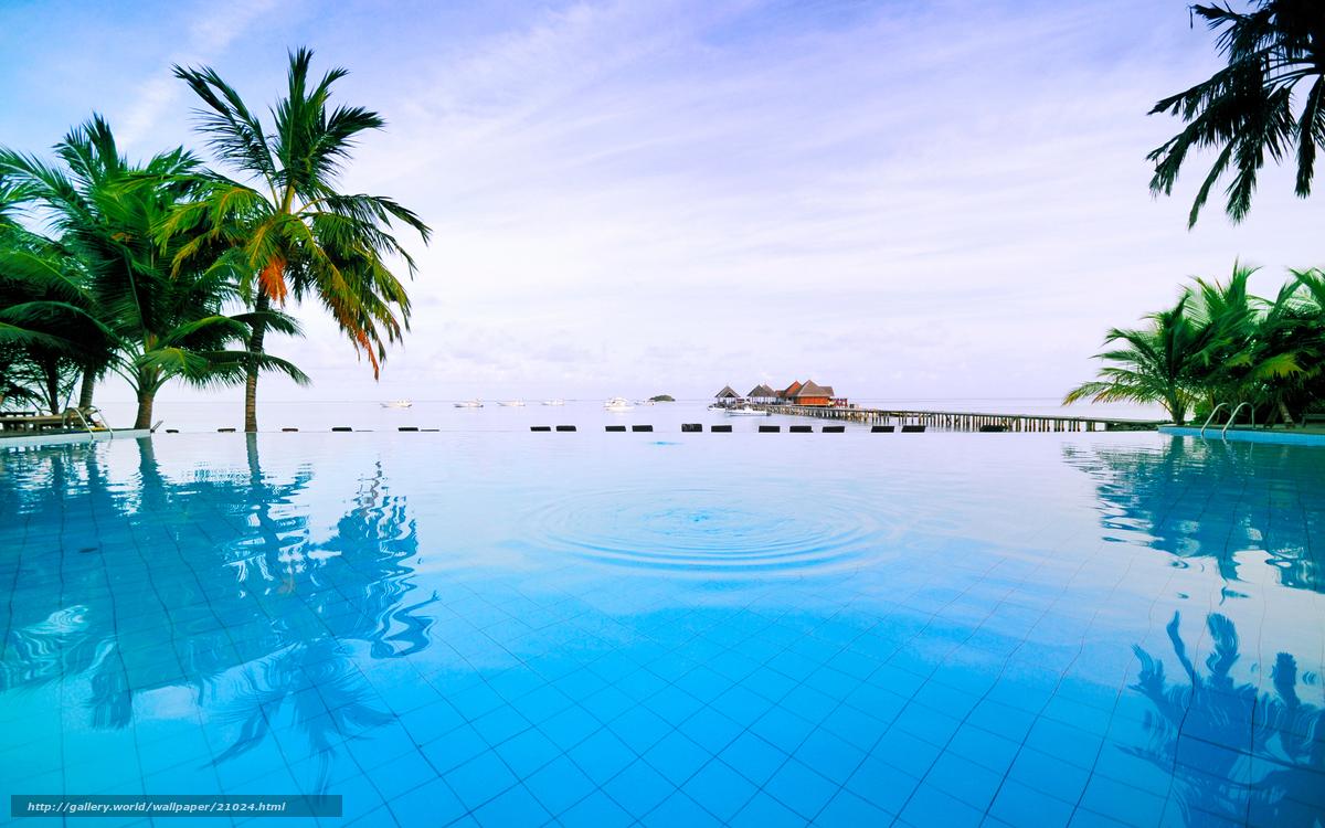 Scaricare Gli Sfondi Piscina Thailand Mare Relax Sfondi Gratis
