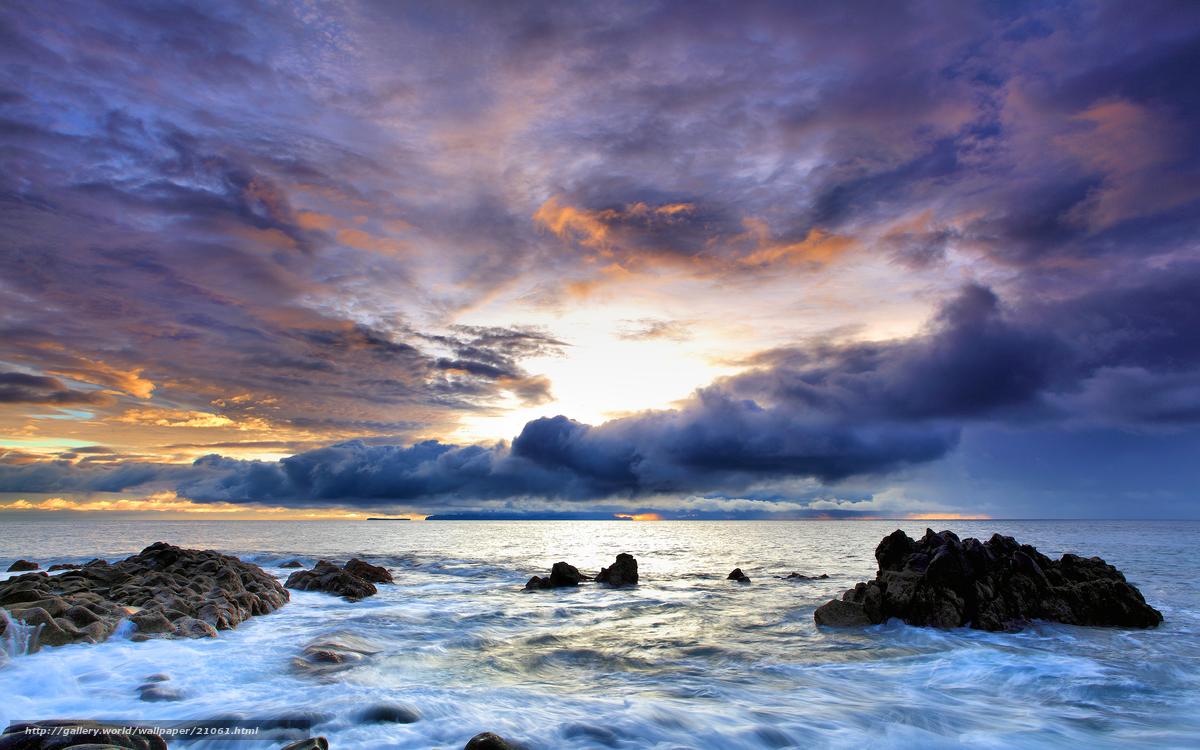 Скачать обои португалия,  скалы,  море,  небо бесплатно для рабочего стола в разрешении 2560x1600 — картинка №21061