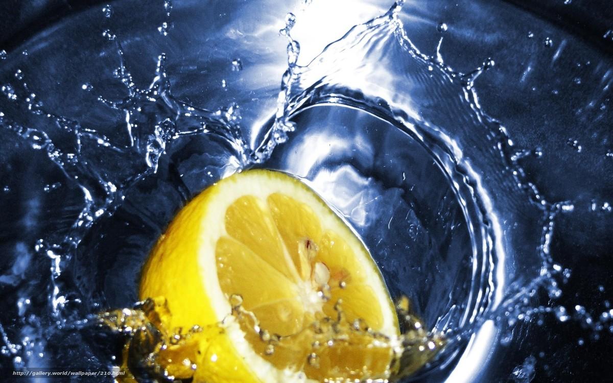 Скачать обои чай,  лимон,  вода бесплатно для рабочего стола в разрешении 1920x1200 — картинка №210