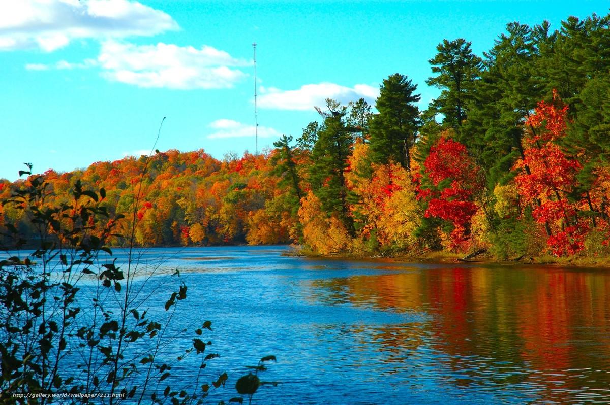 Скачать обои осень,  холод,  озеро,  вода бесплатно для рабочего стола в разрешении 3008x2000 — картинка №211