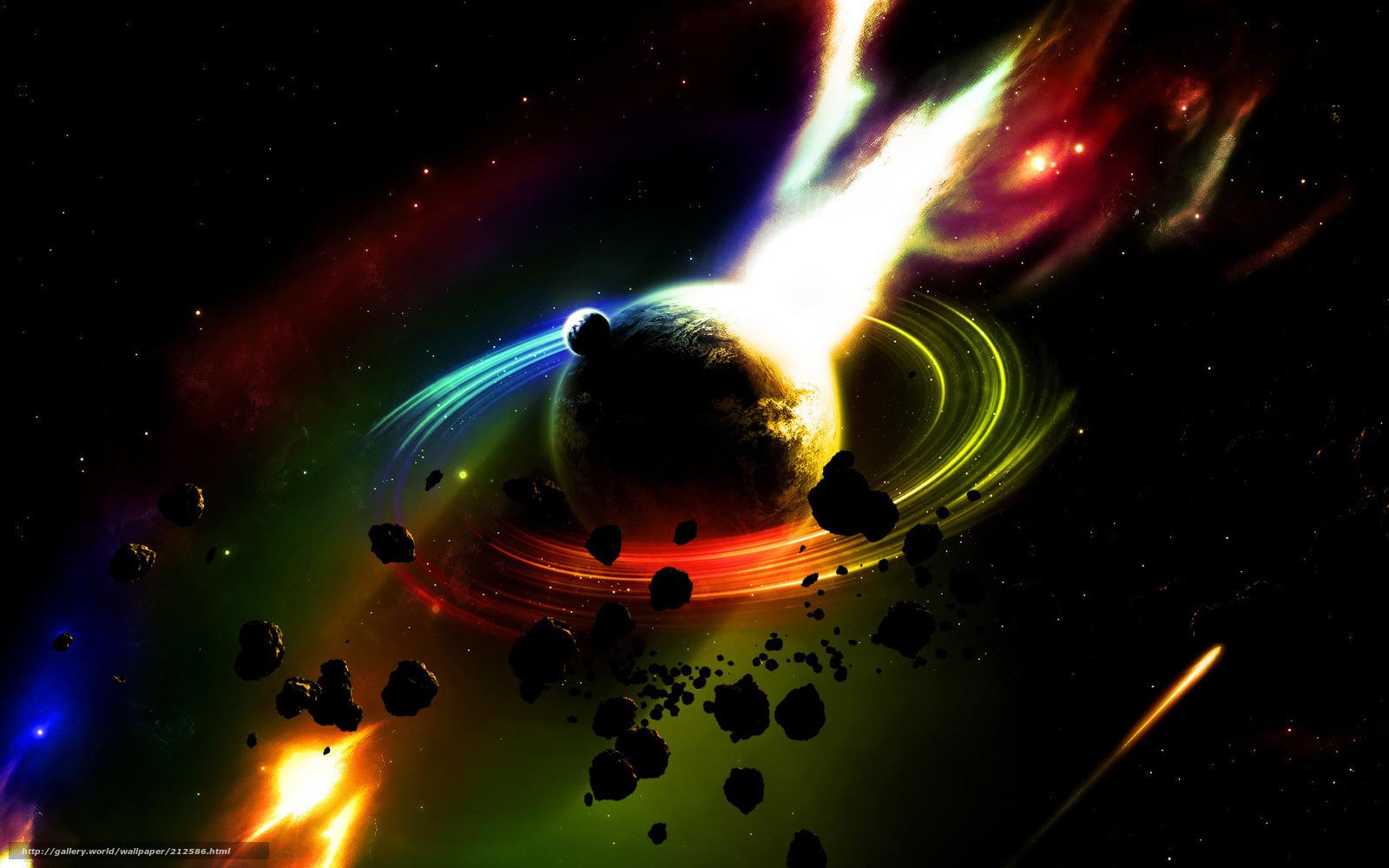 壁紙をダウンロード 土星 火災 隕石 デスクトップの解像度のための無料壁紙 19x10 絵