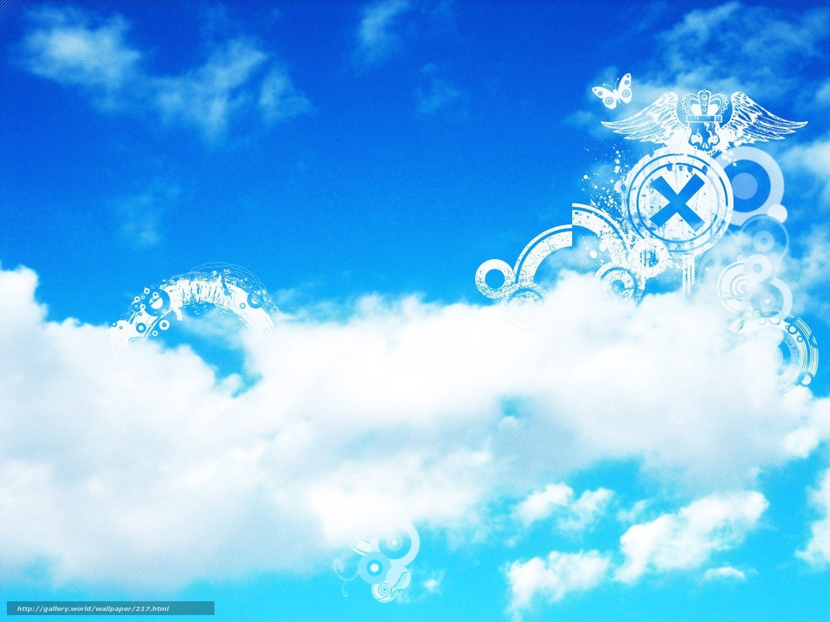 Download wallpaper clouds,  sky,  Blue,  white free desktop wallpaper in the resolution 1600x1200 — picture №217