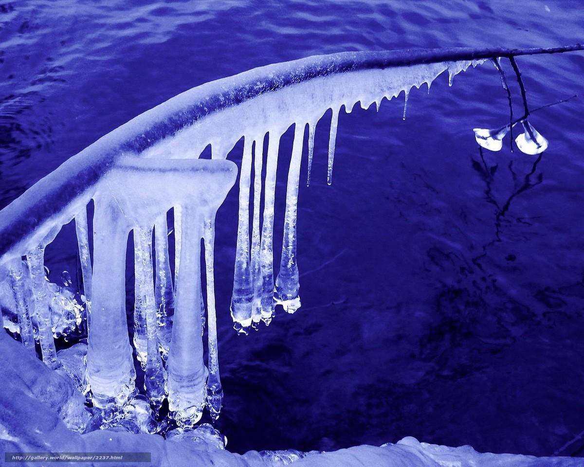 壁紙をダウンロード 氷,  つらら,  冬,  水 デスクトップの解像度のための無料壁紙 1280x1024 — 絵 №2237