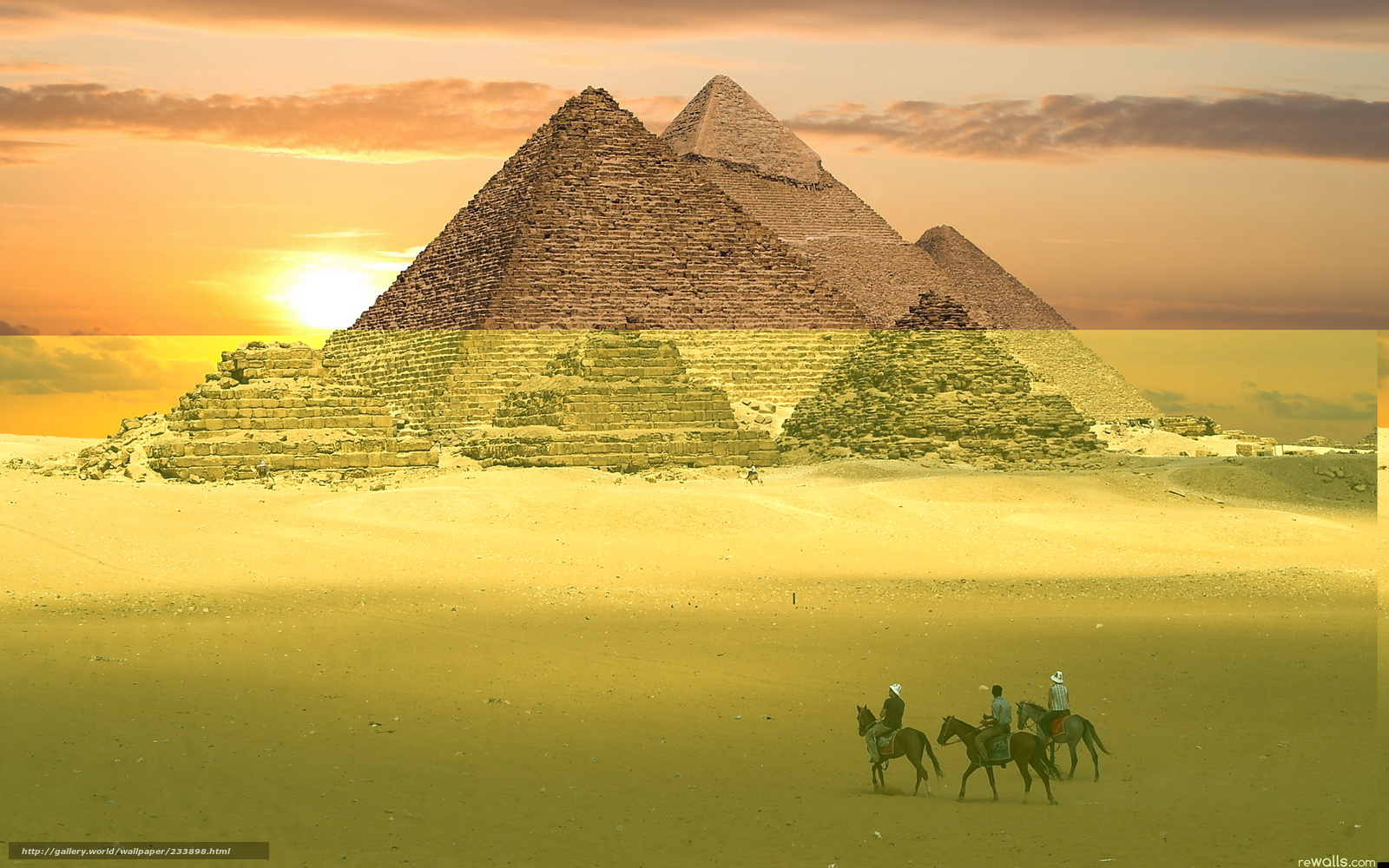 Download wallpaper Egypt,  pyramids,  sand,  desert free desktop wallpaper in the resolution 1920x1200 — picture №233898