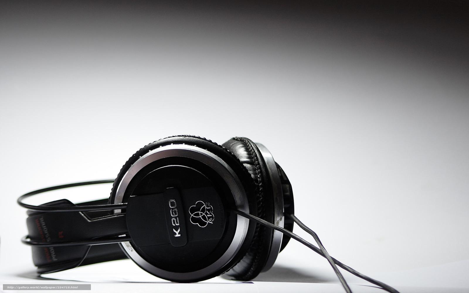 Descargar Gratis Auriculares Msica Negro Blanco Macro