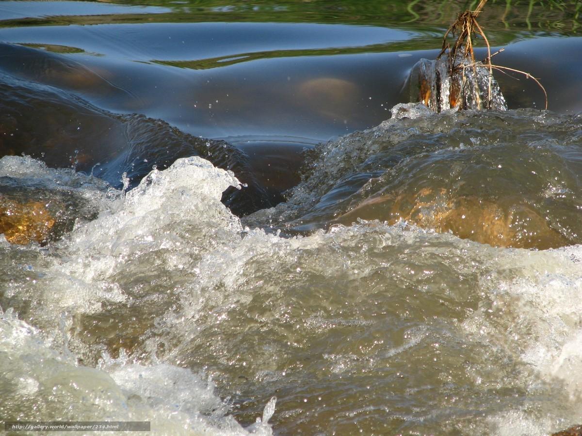 Скачать обои река,  вода,  течение,  бурлит бесплатно для рабочего стола в разрешении 2592x1944 — картинка №234
